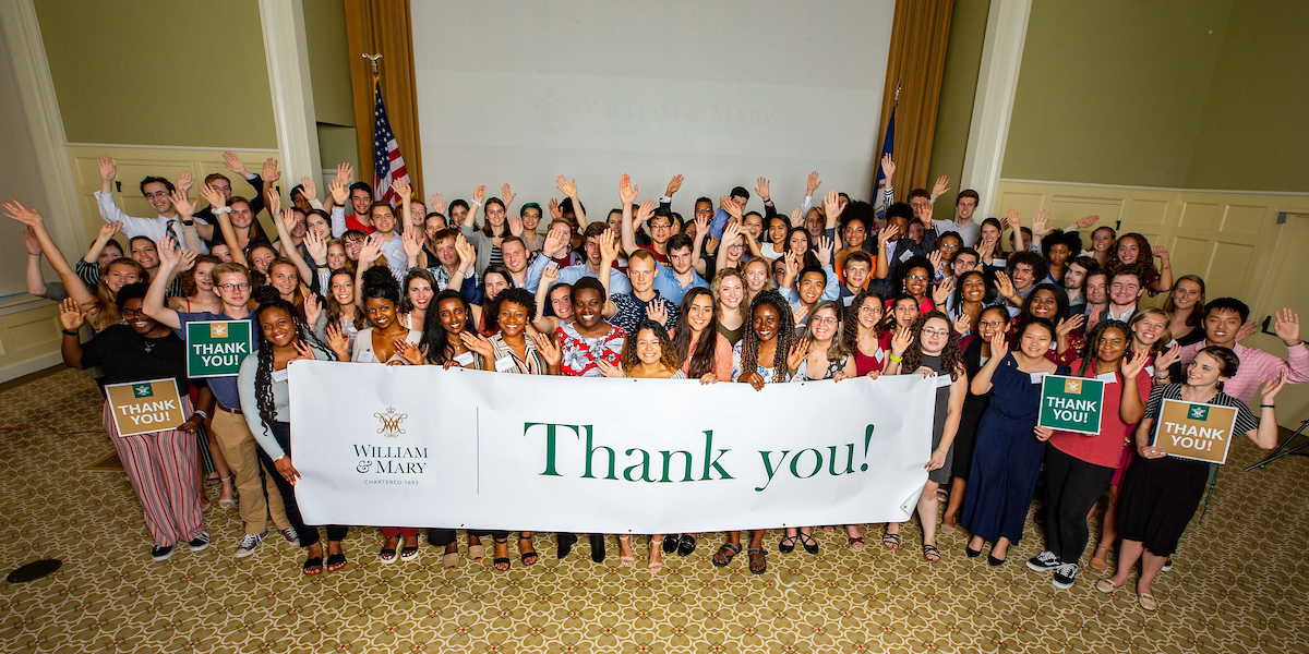 Scholarship Thank You Reception Group Photo